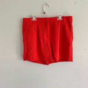 Red J. Crew Shorts